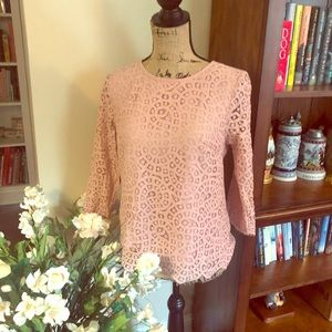 J. Crew, mauve/pink top, lined, 2, very pretty